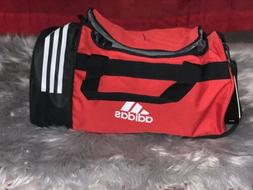 small defender red unisex duffle bag