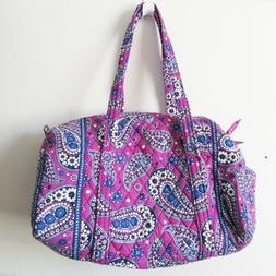 small duffel bag purple paisley
