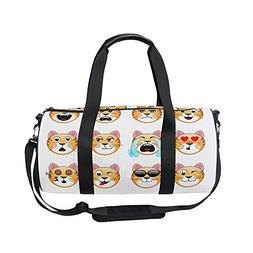 295d817dc8d5 Editorial Pick Sports Bag Cute Tiger Emoji Mens Duffle Luggage Travel Bags
