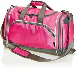 AmazonBasics Sports Duffel Pink Small
