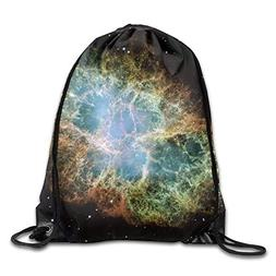 Starry Sky Explosion Men & Women Drawstring Backpack Travel