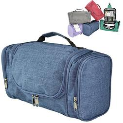 DALIX Travel Toiletry Kit Accessories Bag, Navy Blue
