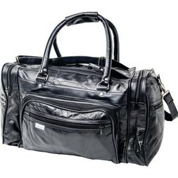 TOTE GYM GENUINE TRAVEL 17 INCH DUFFLE BAG LEATHER LUGGAGE L