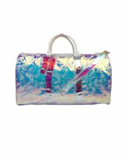 Transparent Camouflage Prism Keepall Type Duffle Bag