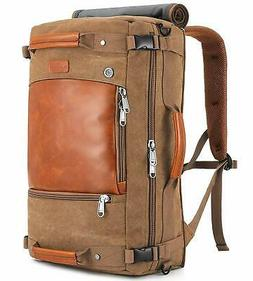 Canvas Travel Backpack Duffel Bag 3-Way Retro Laptop Briefca