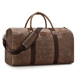 Plambag Travel Duffel Bag, Waxed Canvas Water Resistant Over