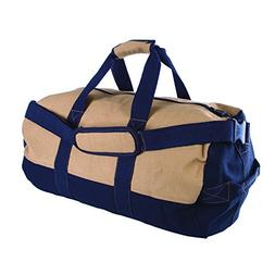 d43e8bc63 Stansport Two-Tone Canvas Duffle Bag with Zipper, 14 x 24-In