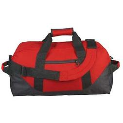 "18"" Two Tone Duffle Bag in Red"