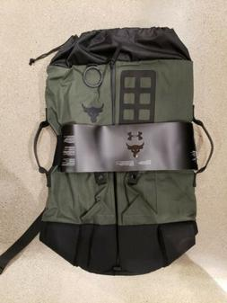 Under Armour UA Project Rock 90 Green Gym Duffle Bag Backpac