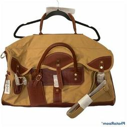 Orvis Unisex 21 Inch Carry On Duffle Bag Brown Canvas Dual H
