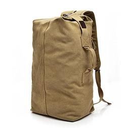 Outdoor Venture Backpack,Realdo Vintage Neutral Travel Canva