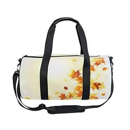 OuLian Vintage Autumn Fall Maple Leaves Sports Gym Shoulder