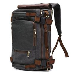 ECOSUSI Vintage Canvas Backpack Travel Duffel Bag Rucksack H