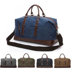 Vintage Men Canvas Travel Duffle Bag Gym Weekend Handbag Sho