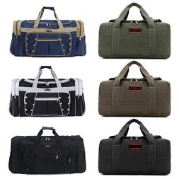 Vintage Men Women Large Duffle Bag Sports Gym Travel Luggage
