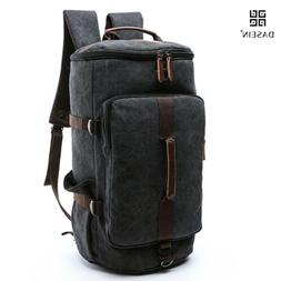 Dasein Vintage Military Men's Canvas Backpack Travel Hiking