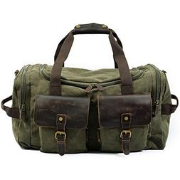 DCRYWRX Men's Weekend Bag, Extra Large Canvas Travel Bag Tot