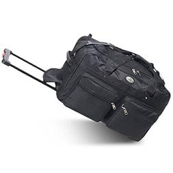 Everest 22-Inch Wheeled Duffel Color: Black