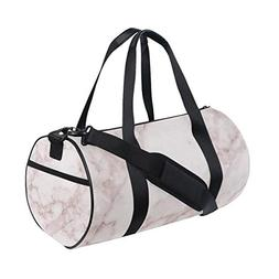 White Red Marble Texture Duffel Bag For Women & Men | Lightw