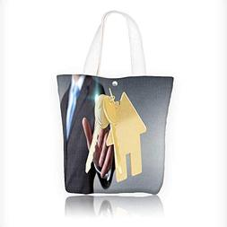 Women's Canvas Tote Handbags man on blurred background tou