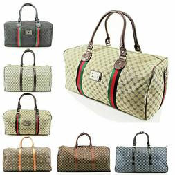 women ladies travel patterned duffle mens gym
