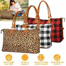 Women Travel Duffle Bag Luggage Tote Bags Weekend Shoulder B