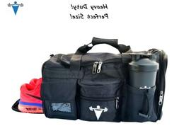 LT Fit Gym Bag Workout Weight Lifting Duffle Travel All Spor