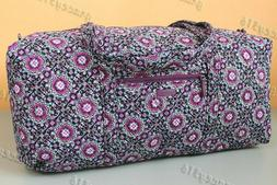 Vera Bradley XL Duffel Travel Bag - Lilac Medallion